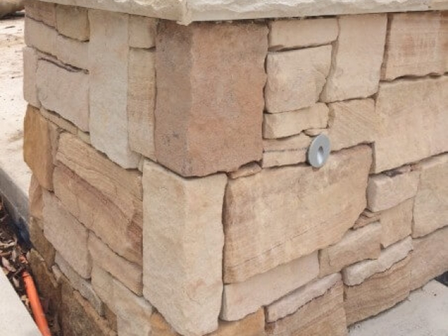 Sandstone Wall Cladding & Capping