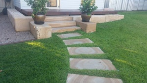 Frontier Tan Sandstone Staircase