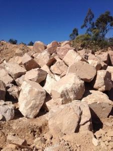 Sandstone Random Boulders Hammered