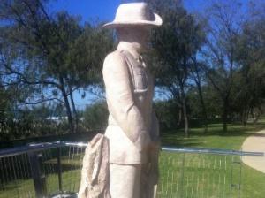 Sandstone Sculptures Anzac Soldier