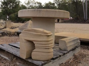 Sandstone Seats Feet
