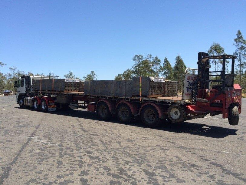 Brisbane Rock Sales Flatbed Truck Forklift Back