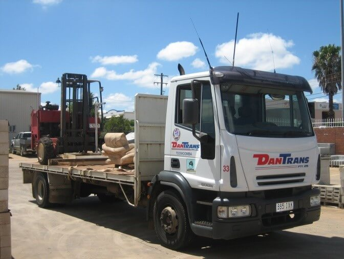 Brisbane Rock Sales Flatbed Truck Forklift