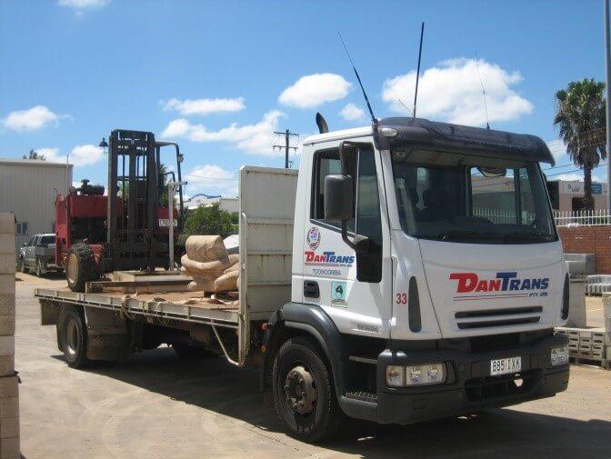 Brisbane Rock Sales Flatbed Truck Forklift