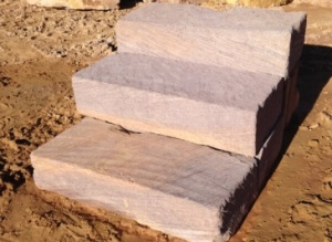 Sandstone Houses Stairs