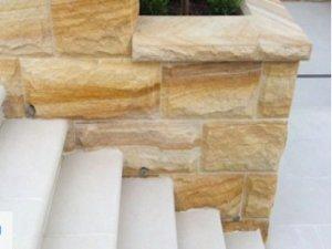 SandstoneCladding Rockfaced Banded