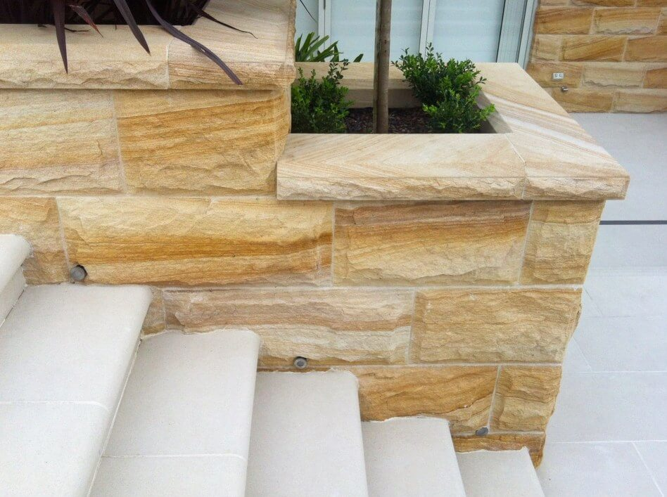 Sandstone Cladding Rockface Banded Brisbane